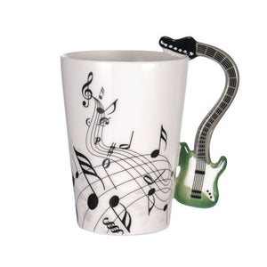 Guitar Coffee Mug - Green