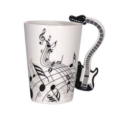 Guitar Coffee Mug - Black