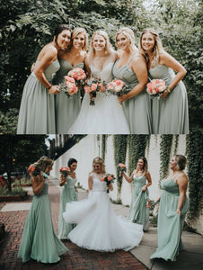 Styles Sage Green Bridesmaid Dresses
