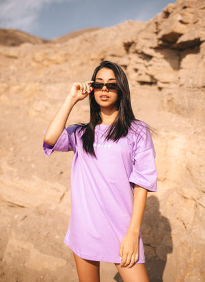 Light Purple Unisex Ovesized Tee