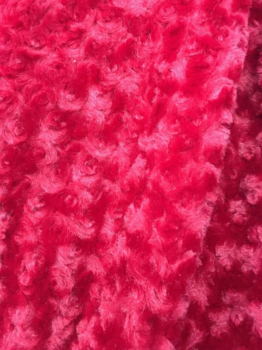 TROPIC FUCHSIA - 58/60 inch Wide Rose/Rosette Minky Cuddle Fabric By The Yard - IceFabrics
