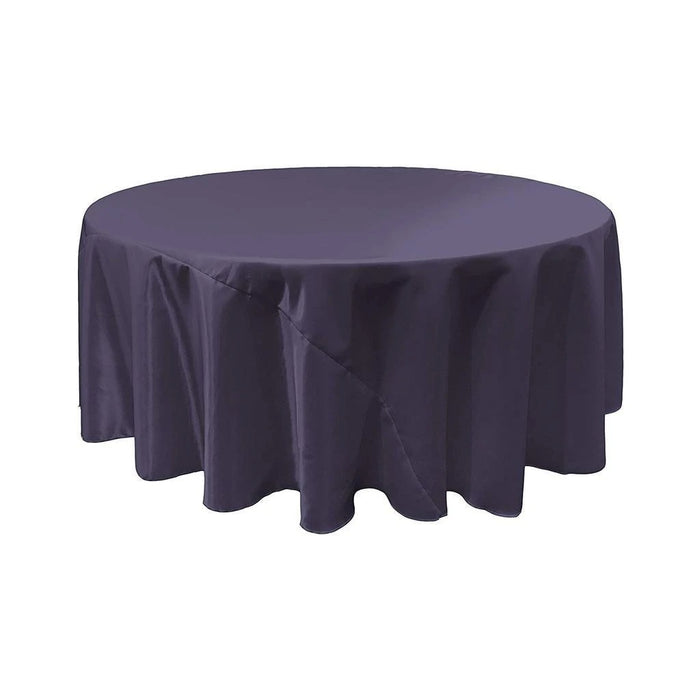 90 Inch Bridal Satin Round Tablecloth - IceFabrics