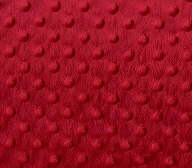 Red - Minky Dot Cuddle Fabric Sold By The Yard - IceFabrics
