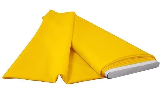 "Yellow - 60"" Wide Flat Fold Roll Polyester Poplin Fabric 6 Yard Package - IceFabrics"