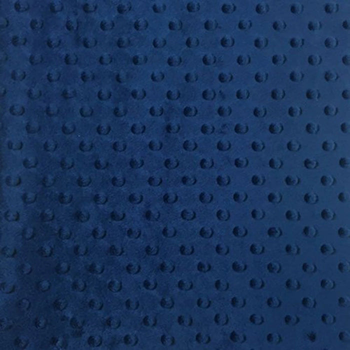 Navy Blue - Minky Dot Cuddle Fabric Sold By The Yard - IceFabrics