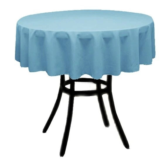 Turquoise - Polyester Poplin Tablecloth 36-Inch Round, Decoration Shop Prom Wedding Tablecloths - IceFabrics