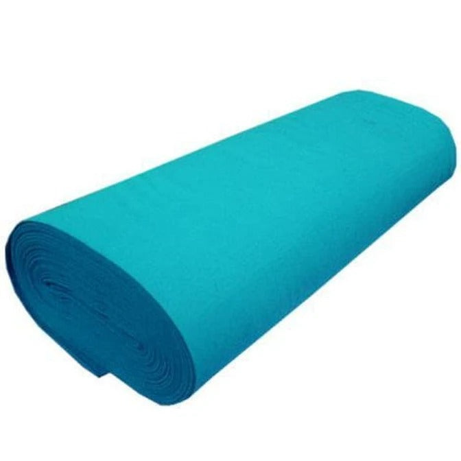 "TURQUOISE - Solid Acrylic Felt Fabric -72"" Width- Sold By The Yard - IceFabrics"