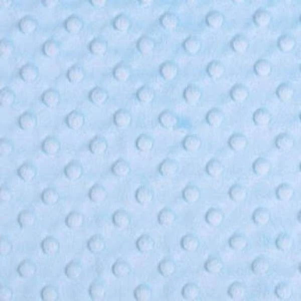 Icy Blue - Minky Dot Cuddle Fabric Sold By The Yard - IceFabrics