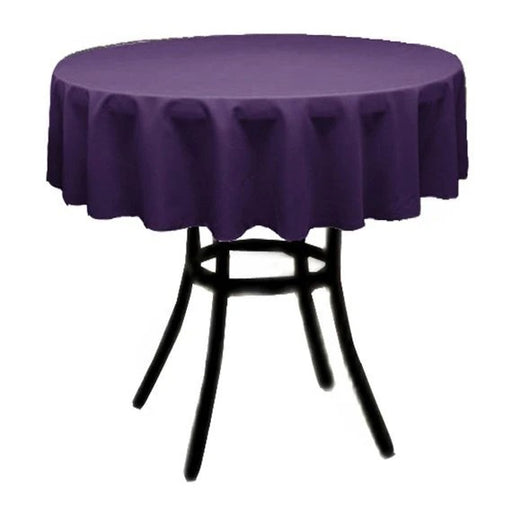 Purple - Polyester Poplin Tablecloth 36-Inch Round, Decoration Shop Prom Wedding Tablecloths - IceFabrics