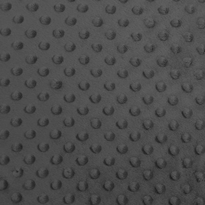 Charcoal Gray - Minky Dot Cuddle Fabric Sold By The Yard - IceFabrics
