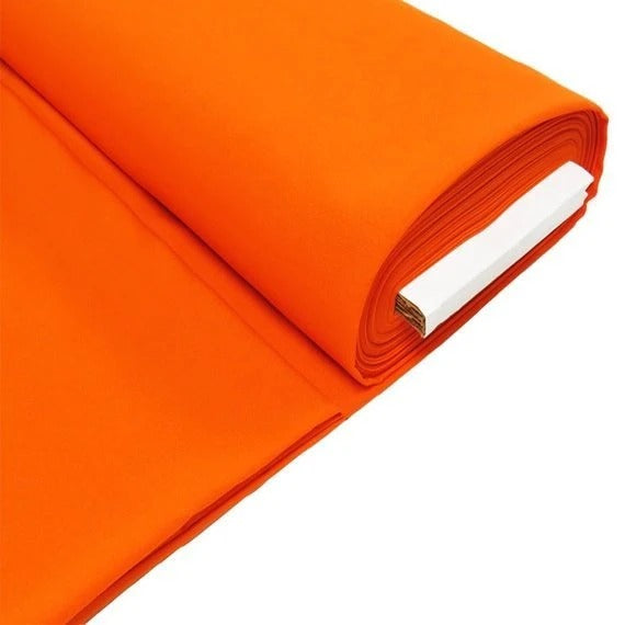 "Orange - 100% Polyester Poplin Fabric 58"" Textured Polyester - IceFabrics"