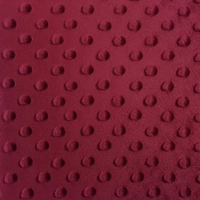 Burgundy - Minky Dot Cuddle Fabric Sold By The Yard - IceFabrics