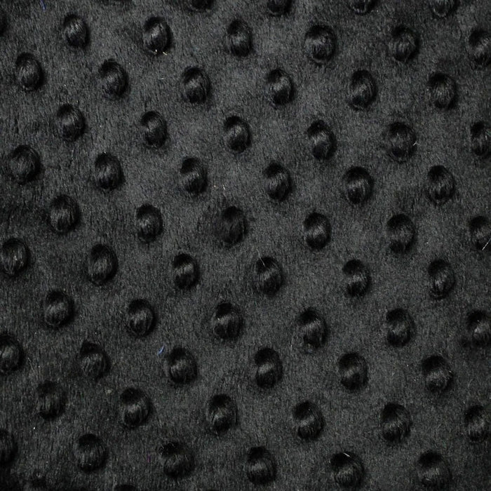 Black - Minky Dot Cuddle Fabric Sold By The Yard - IceFabrics
