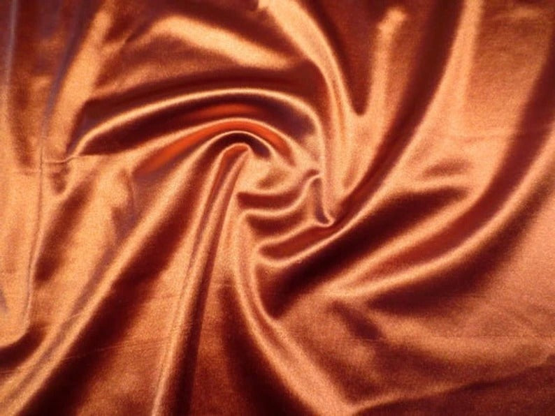 CHARMEUSE Stretch Satin Fabric 100% Polyester By The Yard - IceFabrics