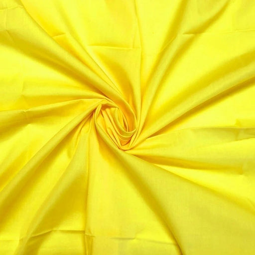 "Yellow - High Quality 60"" Wide Poly Cotton Fabric By The Yard For Costumes, Garments Bed Spreads Pillow Cases - IceFabrics"