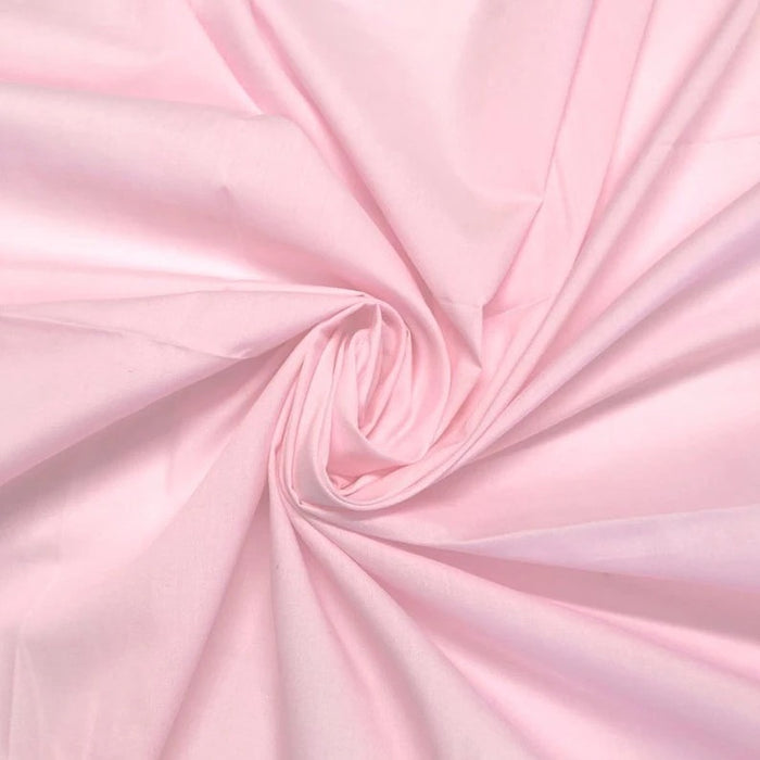 "Pink - High Quality 60"" Wide Poly Cotton Fabric By The Yard For Costumes, Garments Bed Spreads Pillow Cases - IceFabrics"