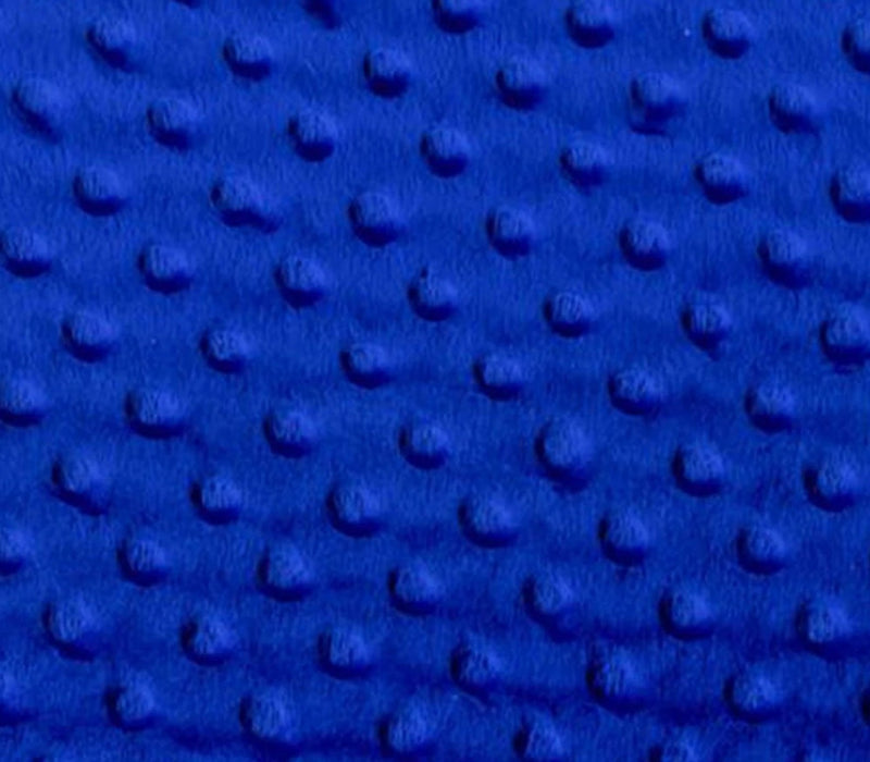 Royal Blue - Minky Dot Cuddle Fabric Sold By The Yard - IceFabrics