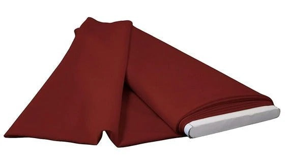 "Burgundy - 60"" Wide Flat Fold Roll Polyester Poplin Fabric 6 Yard Package - IceFabrics"