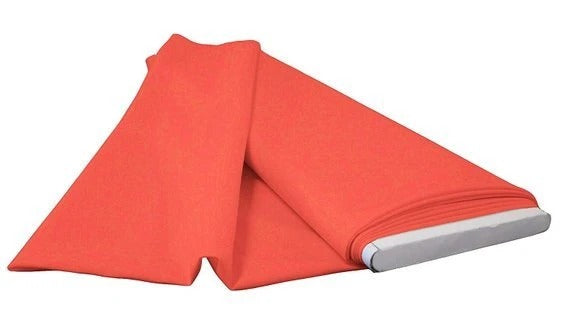 "Coral - 60"" Wide Flat Fold Roll Polyester Poplin Fabric 6 Yard Package - IceFabrics"