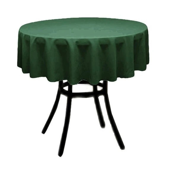 Hunter Green - Polyester Poplin Tablecloth 36-Inch Round, Decoration Shop Prom Wedding Tablecloths - IceFabrics
