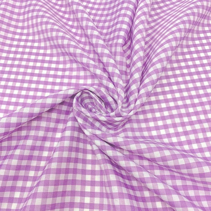 "1/8"" Checked Pink Gingham Fabric By The Yard - Icefabrics"