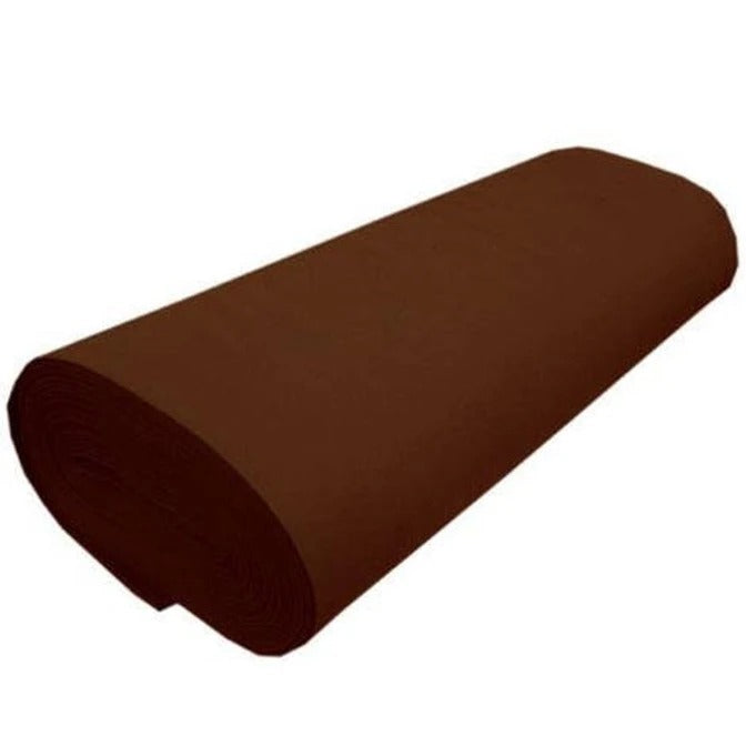 "BROWN - Solid Acrylic Felt Fabric -72"" Width- Sold By The Yard - IceFabrics"