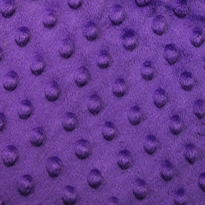 Purple - Minky Dot Cuddle Fabric Sold By The Yard - IceFabrics
