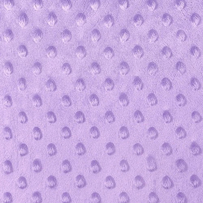 Lilac - Minky Dot Cuddle Fabric Sold By The Yard - IceFabrics