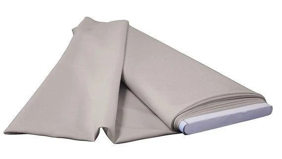 "Silver - 60"" Wide Flat Fold Roll Polyester Poplin Fabric 6 Yard Package - IceFabrics"