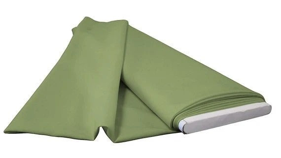 "Sage - 60"" Wide Flat Fold Roll Polyester Poplin Fabric 6 Yard Package - IceFabrics"