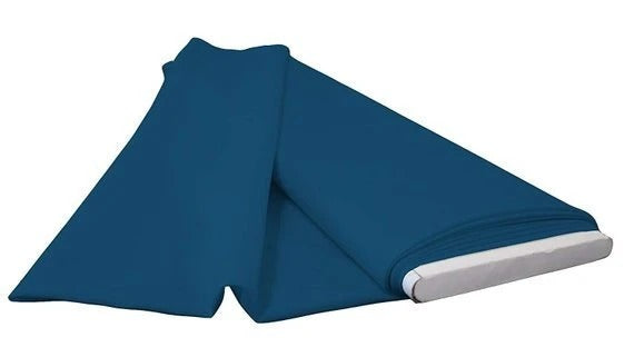 "Teal - 60"" Wide Flat Fold Roll Polyester Poplin Fabric 6 Yard Package - IceFabrics"