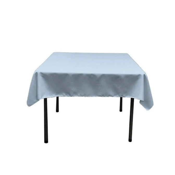 Baby Blue - Washable Polyester 60 x 60 Inch Square Tablecloth - IceFabrics