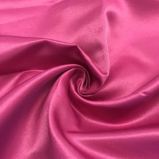 "MAGENTA - Matte Satin Fabric 100% Polyester By The Yard  60"" Wide - IceFabrics"