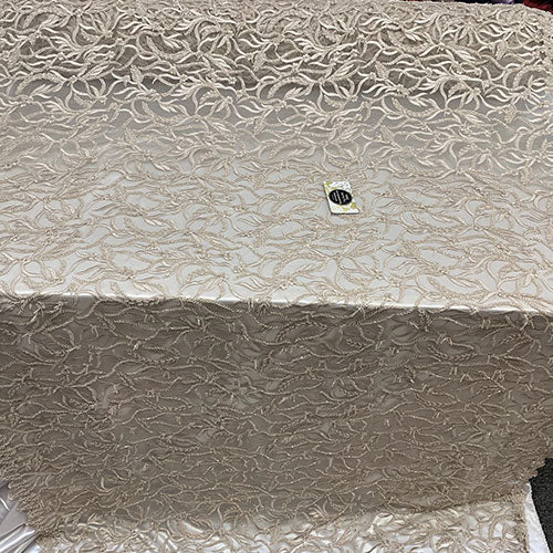 By The Yard Luxury Floral Heavy 3D Beaded Mesh Lace Fabric Hand Made lace Embroidered Glass Beads Sequins/Prom,Wedding Dress