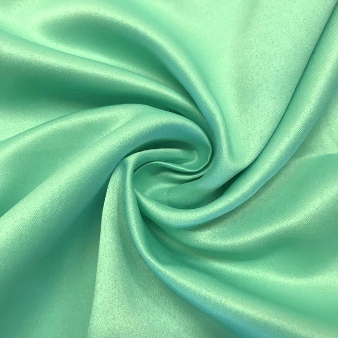 "SEAFOAM - Matte Satin Fabric 100% Polyester By The Yard  60"" Wide - IceFabrics"
