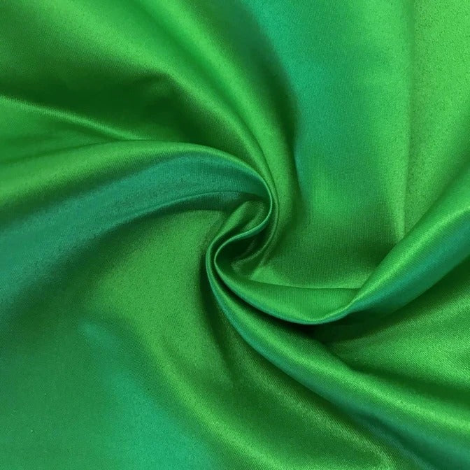 "KELLY GREEN - Matte Satin Fabric 100% Polyester By The Yard  60"" Wide - IceFabrics"