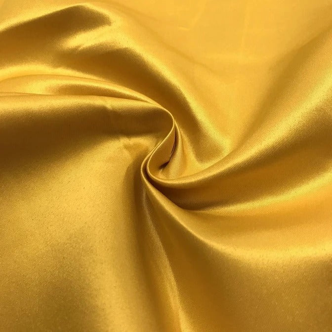 "GOLD - Matte Satin Fabric 100% Polyester By The Yard  60"" Wide - IceFabrics"