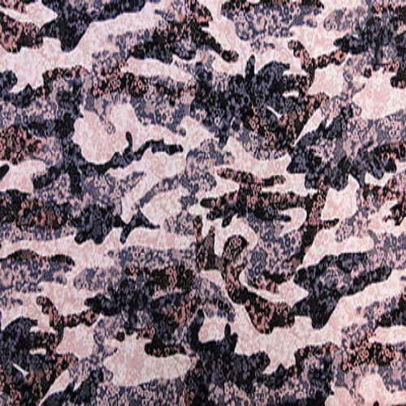 100% Rayon. Like a piece of art with water like current over flowers of brown, grey and light pinkish flowers. sold by the yard - IceFabrics