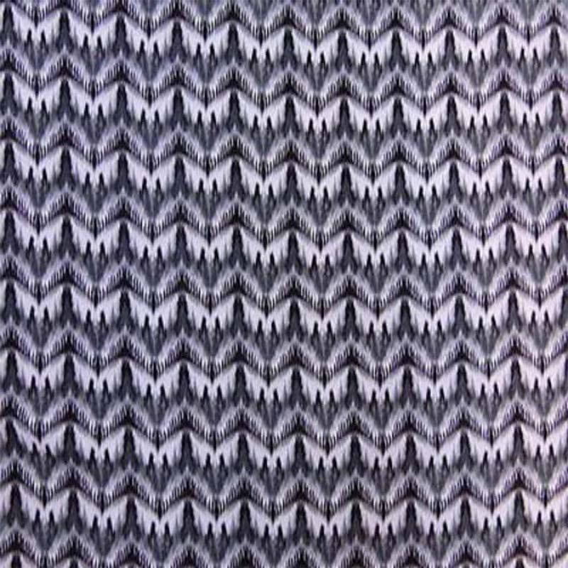 100% Rayon with Grey  White Ikat Print Fabric by the yard soft organic kids dress draping clothing decoration flowy organic - IceFabrics