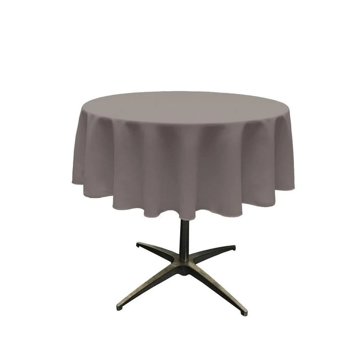 51 Inch Lilac Polyester Round Tablecloth - IceFabrics