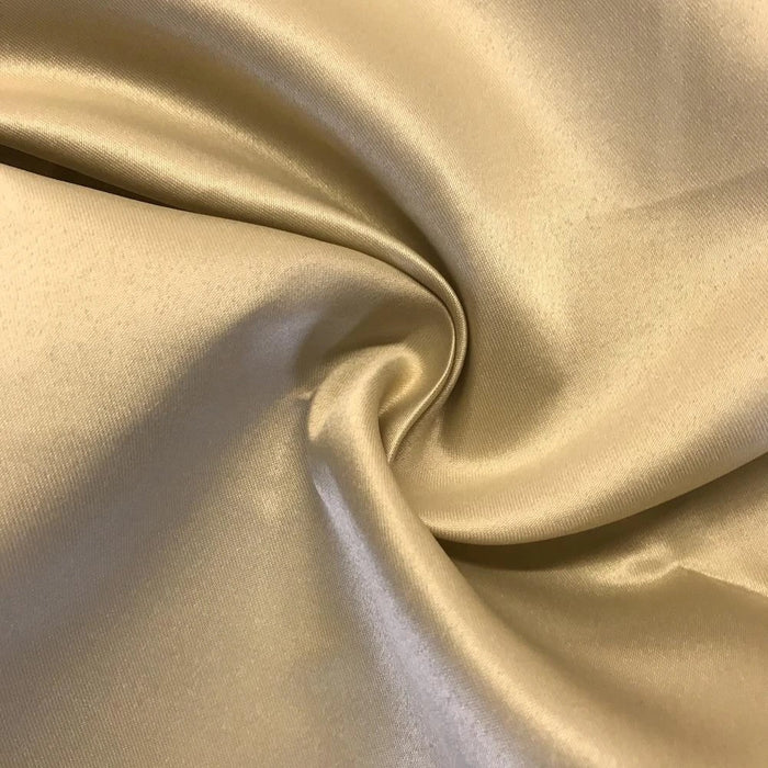 "CHAMPAGNE - Matte Satin Fabric By The Yard 60"" Wide 100% Polyester - IceFabrics"