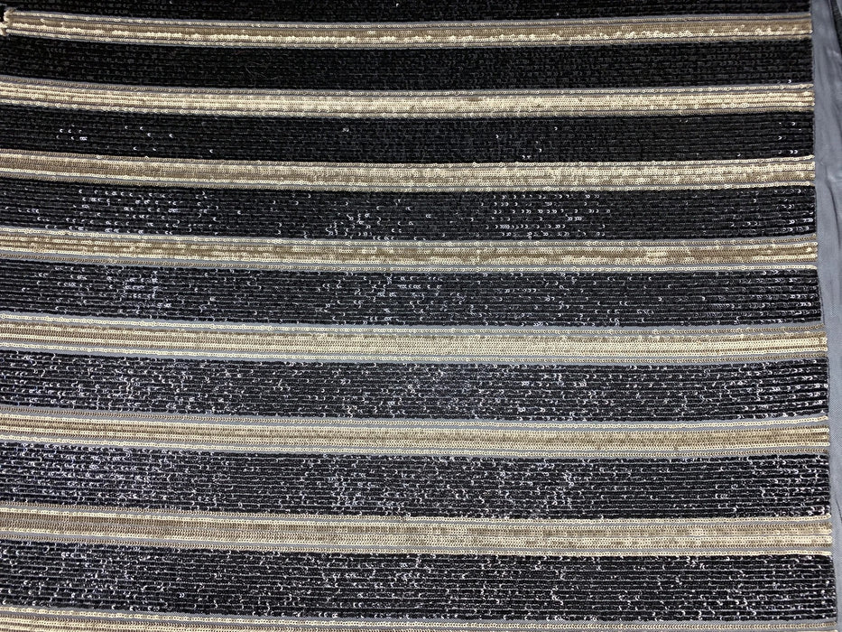 Elegant New Casino Design Embroidered 4 Way Nude Mesh Spandex Stretchy Sequin Fabric