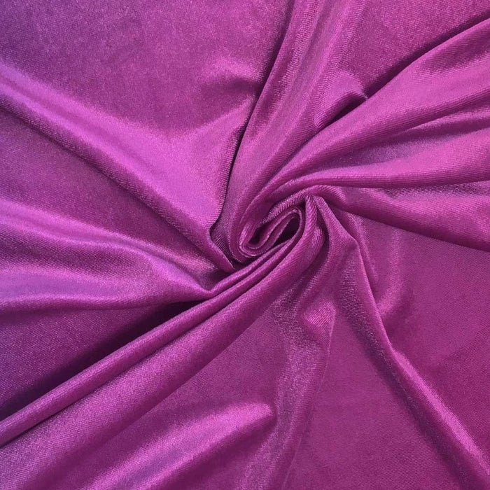 "Polyester 58/60"" Stretch Velvet Fabric By The Yard - IceFabrics"