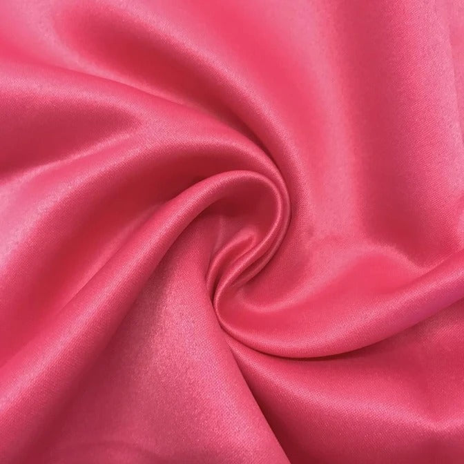 "FUCHSIA - Matte Satin Fabric 100% Polyester By The Yard  60"" Wide - IceFabrics"