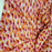 100% Rayon with Orange / Fuchsia Floral Print Fabric sold by the yard soft rayon organic fabric kids dress draping decoration - IceFabrics