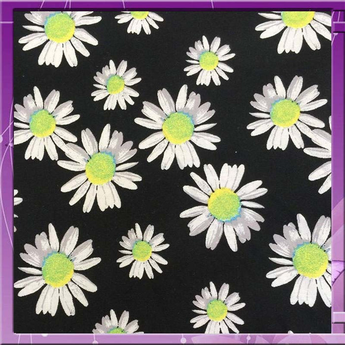 100% Rayon challis Margaritas on black background Fabric by the yard 58 inches wide fabric soft kids organic rayon - IceFabrics