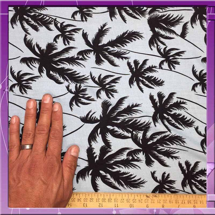 Black palm trees yard - IceFabrics