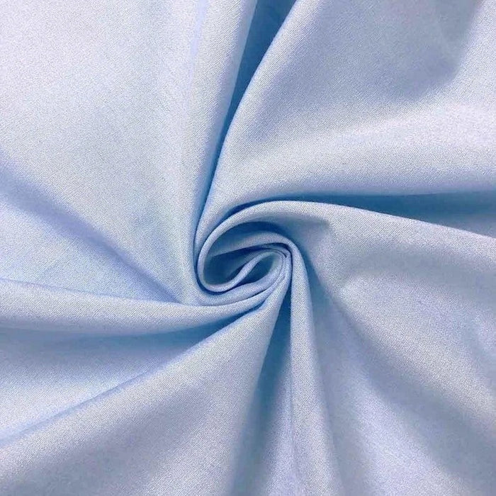 "Light Blue - High Quality 60"" Wide Poly Cotton Fabric By The Yard For Costumes, Garments Bed Spreads Pillow Cases - IceFabrics"