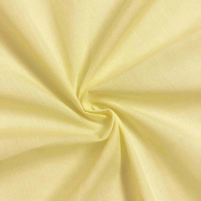 "Light Yellow - High Quality 60"" Wide Poly Cotton Fabric By The Yard For Costumes, Garments Bed Spreads Pillow Cases - IceFabrics"