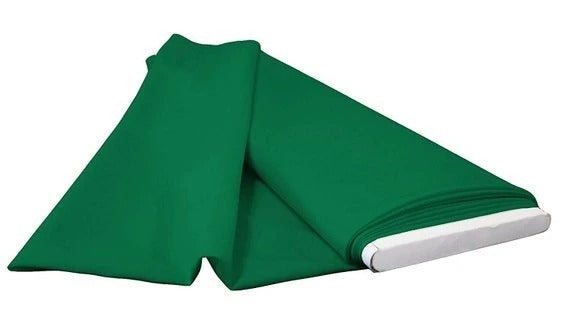 Emerald Green - LA Linen Polyester Poplin Solid Color Flat Fold Fabric, 6 Yards, Bolt - IceFabrics